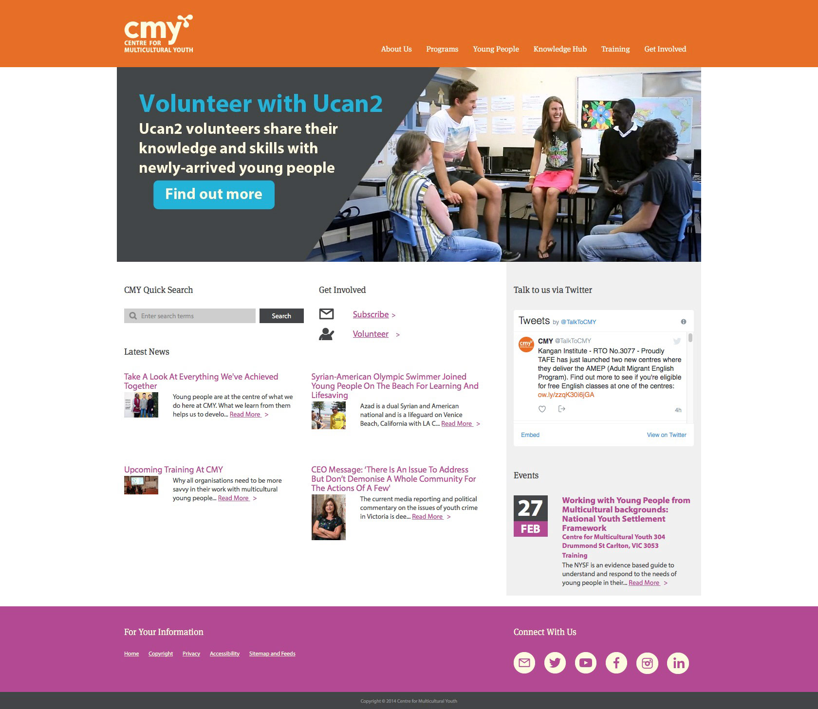 Centre For Multicultural Youth Home Page